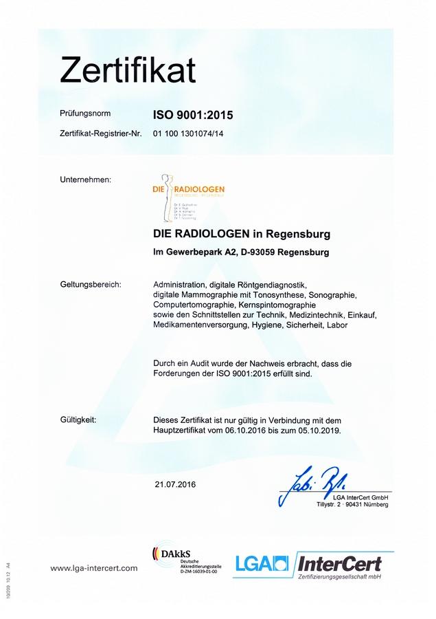 Qualitätsmanagement - DIE RADIOLOGEN Regensburg • Regenstauf